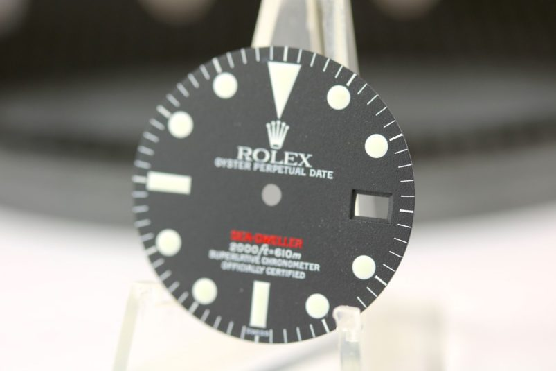 Single Red dial