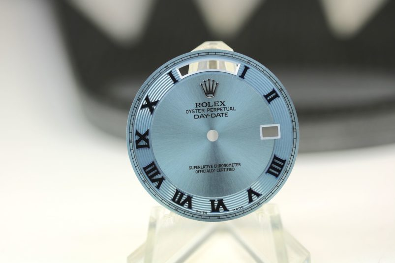 Rolex Ice Blue day date dial