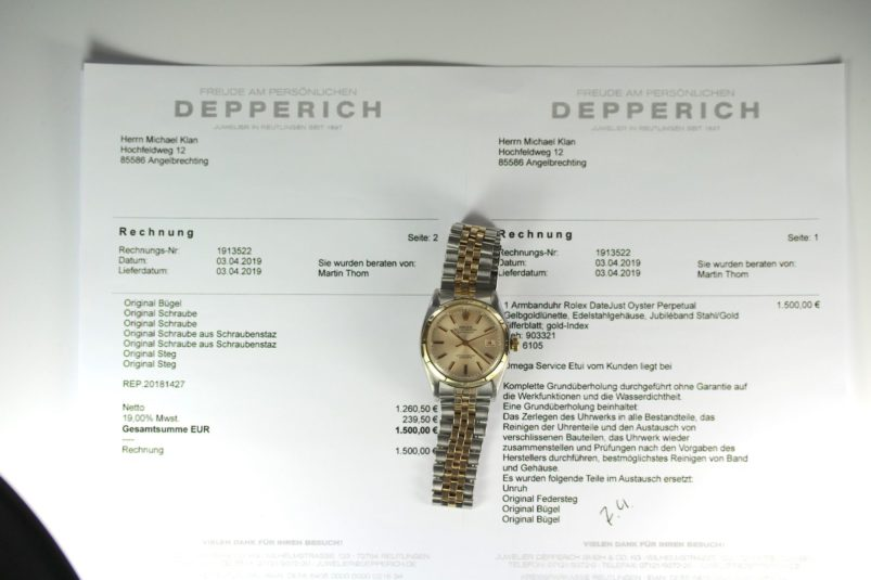 Datejust 6105 mit Papers