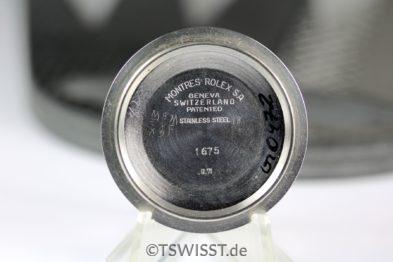 Rolex Caseback GMT 1675 1971
