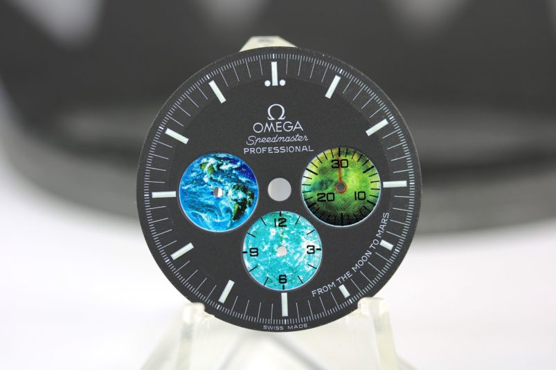 Omega from the moon to mars dial