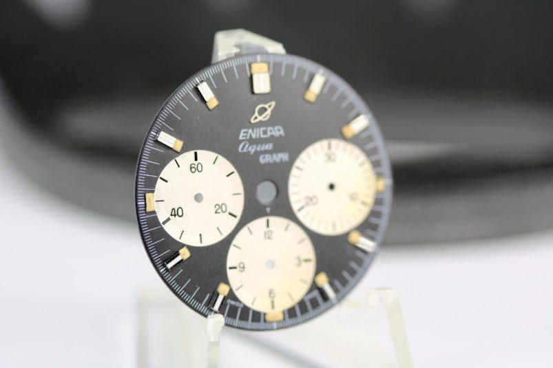ENICAR Aquagraph dial