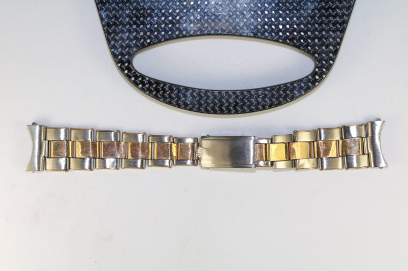 Rolex two tone riveted bracelet