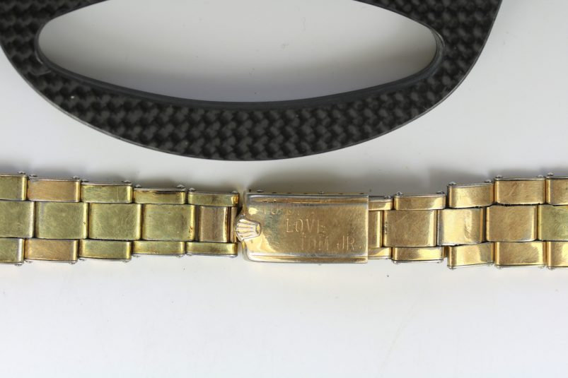 Rolex plaque gold bracelet